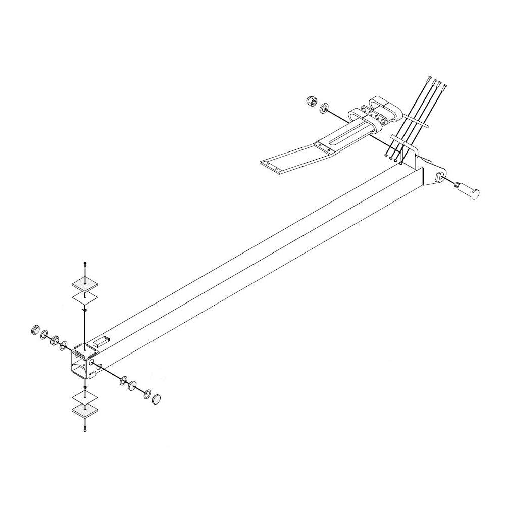 SCHWANITZ ForstTechnik MESERA Forstkran Ersatzteil Teleskop Schubarm 2 vorn